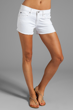 The Pixie Cut Off Short in White