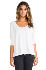 Boxy Scoop Tee in White