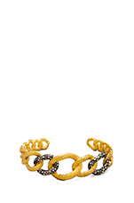 Cordova Gold & Antique Rhodium Chain Link Cuff