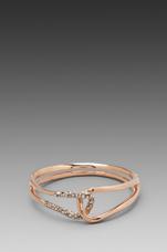 Liquid Rose Gold Interlocked Bracelet