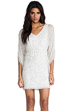 Olympia Embellished Tunic Dress in White Multi