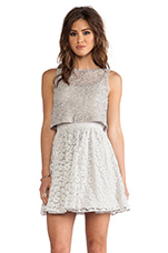 Hilta Beaded Dress in Grey