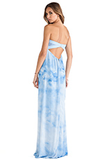 Maisie Sweetheart Maxi Dress in Ombre Cloud