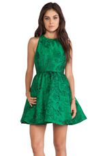 Tevin Racerback Party Dress in Emerald