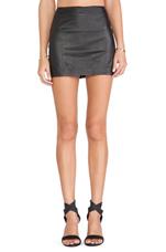 Neville Leather Mini Skirt in Black