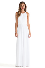 Gab Pleated Halter Jumpsuit in White