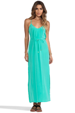 Button Back Maxi in Mint
