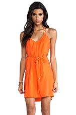 Button Back Dress in Orange