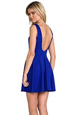 Backless Skater Dress in Nu Blue