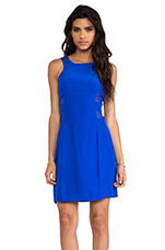 Mesh Sheath Dress in Royal