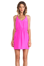 Multi Strap Dress in Hot Pink