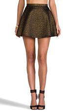 Circle Skirt Brocade en Léopard