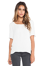 Rosales Short Sleeve Top in White