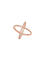 Criss Cross Ring in Rose Gold