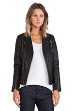 Classic Leather Jacket in Black