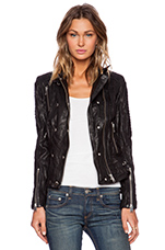 Moto Leather Jacket in Black