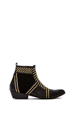 Boots with Studs in Black