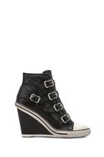 Thelma Wedge Sneaker in Black