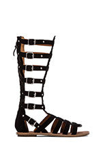 Nymphea Gladiator Sandal in Black