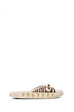 Kappa Sandal with Pony Fur in Cream/Cream