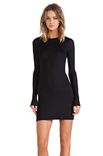 Long Sleeve Bodycon Dress in Black