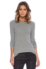 Thermal Stitch Sweater in Heather Grey
