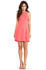 Carved Armhole Fit & Flare Dress in Watermelon