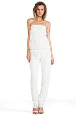 Lazar Jumpsuit in White Crochet
