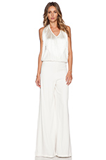 Isis Fringed Jumpsuit in Blanc