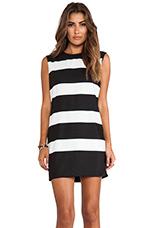 Clarice Dress in Black & White