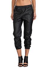 Phoenix Faux Leather Pant in Black