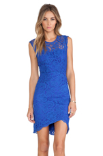 Gwen Lace Dress in Cobalt