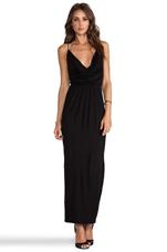 Cowl Maxi Dress in Black