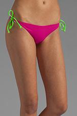 Raglan Reversible Bikini Top in Fuchsia/Peri