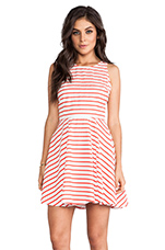 Carling Striped Mini Dress in Poppy & White