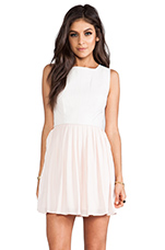 Camille Fit & Flare Dress in Peach Blush