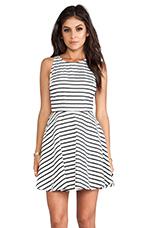 Carling Stripes Sateen Dress in Black & White
