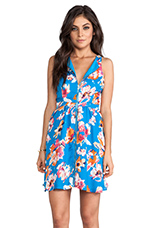 Caineville Floral Mini Dress in Methly Blue
