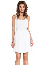 Reed Tank Dress in White