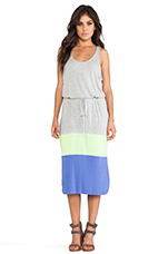 Carla Jersey Maxi Dress in Light Heather Grey