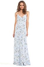 Elvya Flora Maxi Dress in Blue Angel