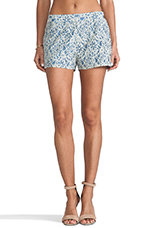 Milo 2 Toned Lace Shorts in Blue & White