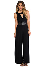 Alvy Laser Cut Jumpsuit in Black