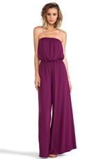 Nahal Wide Leg Jumpsuit in Grape