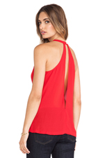 Gina Slit Back Top in Red