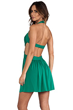Shea Halter Dress in Ultra Green