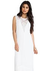 Denisa Dress in White