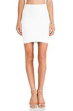 Mini Body Con Skirt in White