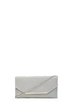 Bardot Metal Mesh Clutch in White