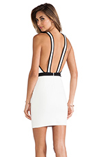 Pyramid Cross Over Dress in Ivory